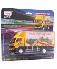 Centy Public Fruit & Vegetable Pull Back Truck Toy - Yellow