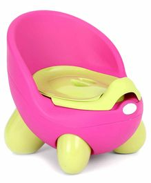 Potty Chair With Lid And High Backrest - Pink