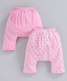 Earth Conscious Pack Of 2 Horse Printed Elasticated Diaper Pants - Pink
