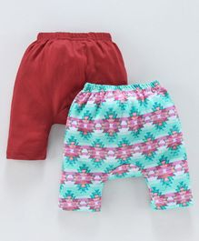 Earth Conscious Pack Of 2 Elasticated Diaper Pants - Red & Green