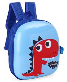 Hard Top School Bag Dino Print Blue - 12 Inches