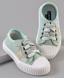 Cute Walk by Babyhug Casual Shoes Star Patch - Green