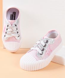 Cute Walk by Babyhug Casual Shoes Star Patch - Pink