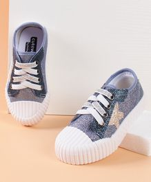 Cute Walk by Babyhug Casual Shoes Star Patch - Blue