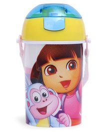 Dora Sipper Water Bottle with Push Button Lid Yellow - 400 ml