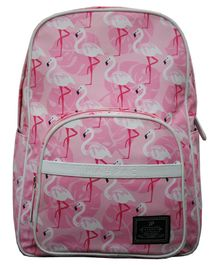 Kaypac School Bag Flamingo Print Pink - 13.38 Inches