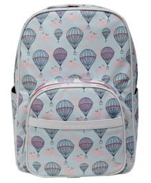 Kaypac School Bag Hot Air Balloon Print Light Blue - 13.38 Inches