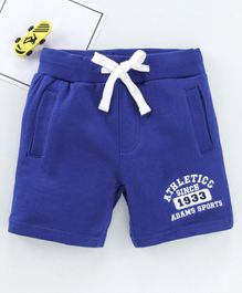 Adams Kids Letter Patch Mid Rise Shorts - Blue