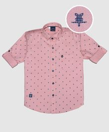 CAVIO Turtle Printed Full Sleeves Shirt - Pink