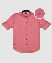 CAVIO Thumbs Up Print Full Sleeves Shirt - Pink