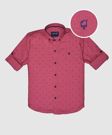 CAVIO Ice Cream Print Full Sleeves Shirt - Red