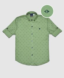CAVIO Astronomical Object Print Full Sleeves Shirt - Green