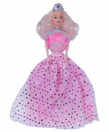Planet of Toys Princess Doll Pink  - Height 29 cm