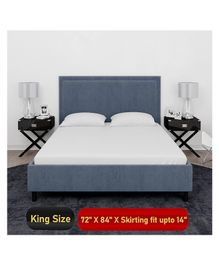 Mattress Protector Waterproof Bed Protector for King Size Bed - White