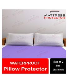 Mattress Protector Waterproof Pillow Protector Pack of 2 - White