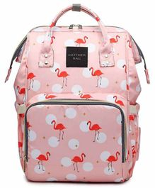 My NewBorn Backpack Style Diaper Bag Flamingo Print - Pink