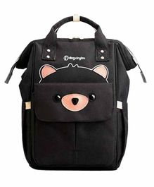 My NewBorn Back Pack Style Diaper Bag Teddy Print - Black