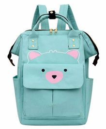 My NewBorn Back Pack Style Diaper Bag Teddy Print - Green