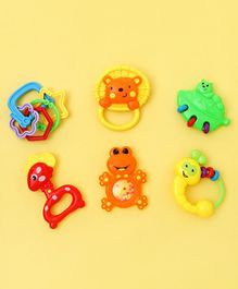 Animal Shape Baby Rattle Toys Pack of 6 - Multicolor