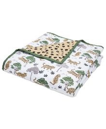 Masilo Quilted Blanket Tiger Print - Multicolor