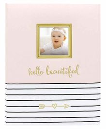 Pearhead Hello Baby Book Pink - 50 Pages