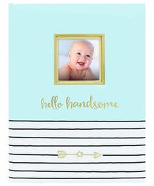 Pearhead Hello Baby Book Blue - 50 Pages