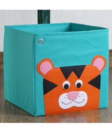 My Gift Booth Cloth Storage Bin Animal Print - Blue
