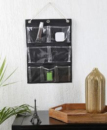 My Gift Booth Wall Hanging Organiser with 7 Pockets - Black