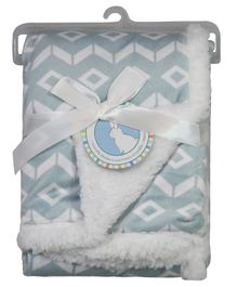 Honey Bunny Reversible Blanket - Blue
