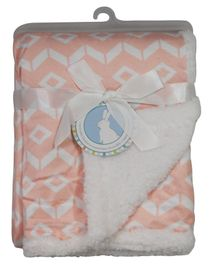 Honey Bunny Reversible Blanket - Pink