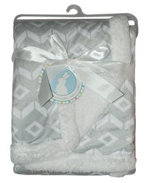 Honey Bunny Reversible Blanket - Grey
