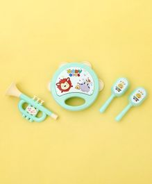 Musical Instruments Shaped Toy Rattle Set of 4 - Green