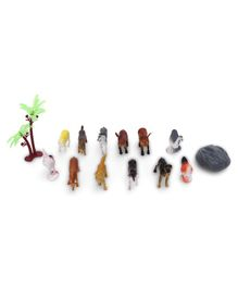 Domestic Animal Figurines Pack of 14 - Multicolor
