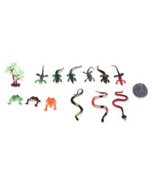 Snake World Figurines Pack of 14 - Multicolor
