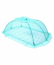 Babyhug Portable Baby Mosquito Net with Flower Design - Blue