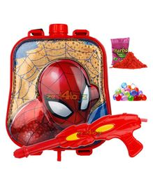 Zest 4 Toyz Avengers Themed Holi Water Gun with 2.5 Litres Storage Backpack - Red(Characters May Vary)