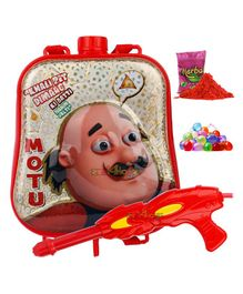 Zest 4 Toyz Motu Patlu Themed Holi Water Gun with 2.5 Litres Storage Backpack - Yellow