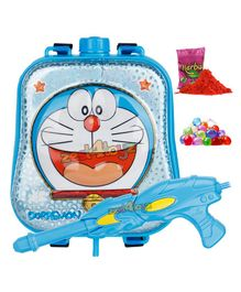 Zest 4 Toyz Doraemon Themed Holi Water Gun with 3.5 Litres Storage Backpack - Blue