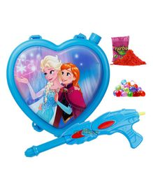 Zest 4 Toyz Disney Frozen Themed Holi Water Gun with 3.5 Litres Storage Backpack - Blue