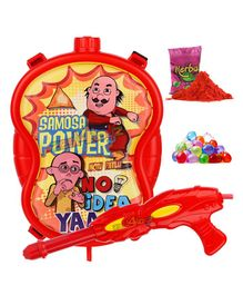 Zest 4 Toyz Motu Patlu Themed Holi Water Gun With 3.75 Litres Storage Backpack - Red