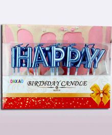 Shopperskart Happy Birthday Letter Candles Blue - Pack of 13 Candles