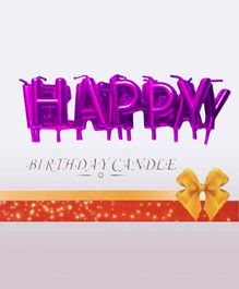 Shopperskart Happy Birthday Letter Candles Purple - Pack of 13 Candles