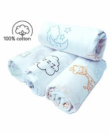 Rio Cotton Swaddle Wrapper Animal Print Pack of 4 - Multicolor