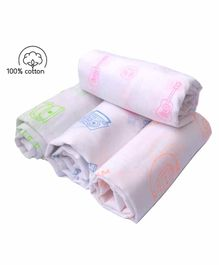 Rio Cotton Swaddle Wrapper Musical Instruments Print Pack of 4 - Multicolor