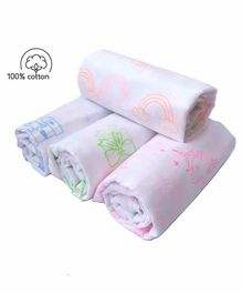 Rio Cotton Printed Swaddle Wrapper Pack of 4 - Multicolor