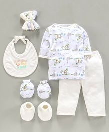 Montaly Clothing Gift Set Teddy Tree Cream- 9 Pieces