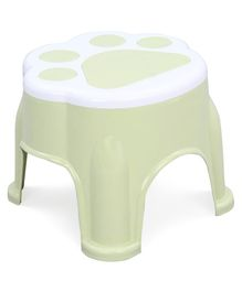 Plastic Stool With Paw Design - Light Green-