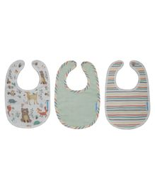 Abracadabra Muslin Snap Button Bibs Woodland Friends Set of 3 - Multicolor