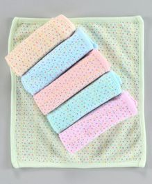 Simply Printed Wash Cloths Pack of 6 - Multicolour