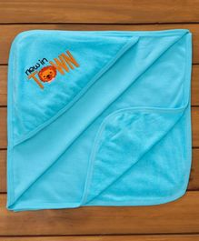 Simply Hooded Towel Town Embroidered - Blue
